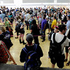 The students get to the final stages in the Glenn Miller Ballroom.<br /> Thousands of University of Colorado students lined up around the UMC Sunday to get tickets to the speaking engagement of President Barack Obama Tuesday at the Coors Events Center.<br /> Cliff Grassmick / April 22, 2012
