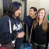 Marilyn Villalobos Rivera, left, Anil Arora and Olivia Myers, were the first in line, arriving at 3:30 am.<br /> Thousands of University of Colorado students lined up around the UMC Sunday to get tickets to the speaking engagement of President Barack Obama Tuesday at the Coors Events Center.<br /> Cliff Grassmick / April 22, 2012