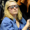 "Dakotah Fozzard, of Boulder, rocks her Obama sunglasses inside the Coors Event Center on the University of Colorado campus while waiting for President Obama's speech on Thursday, Nov. 1. For more photos and video of the speech go to  <a href=""http://www.dailycamera.com"">http://www.dailycamera.com</a><br /> Jeremy Papasso/ Camera"