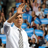 "Barack Obama waves to the crowd after his speech on Thursday.<br /> President Barack Obama speaks to a crowd in the Coors Events Center on the University of Colorado campus on November 1, 2012.<br /> For more photos of Obama, go to  <a href=""http://www.dailycamera.com"">http://www.dailycamera.com</a>.<br /> Cliff Grassmick / November 1, 2012"