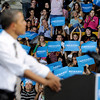 "The crowd cheers in the background during the speech.<br /> President Barack Obama speaks to a crowd in the Coors Events Center on the University of Colorado campus on November 1, 2012.<br /> For more photos of Obama, go to  <a href=""http://www.dailycamera.com"">http://www.dailycamera.com</a>.<br /> Cliff Grassmick / November 1, 2012"