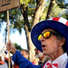 "Richard DiIlio, of Boulder, chants while dressed as Uncle Sam on Friday, Oct. 14, during the ""Occupy Boulder"" rally near the intersection of Canyon Boulevard and 26th Street in Boulder. For more photos of the rally go to  <a href=""http://www.dailycamera.com"">http://www.dailycamera.com</a><br /> Jeremy Papasso/ Camera"