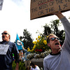 "Hal Buggy, left, of Boulder, and Mark VanderLugt, also of Boulder, chant ""We Are The 99 Percent"" while protesting on Saturday, Oct. 15, during the ""Occupy Boulder"" rally near the intersection of Canyon Boulevard and Broadway in Boulder. For more photos and a video of the rally go to  <a href=""http://www.dailycamera.com"">http://www.dailycamera.com</a><br /> Jeremy Papasso/ Camera"
