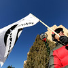 "George Newell, of Boulder, holds a Veterans for Peace flag during an Occupy Boulder rally on Saturday, Nov. 26, in front of the Boulder County Courthouse on the Pearl Street Mall in Boulder. For more photos and video of the rally go to  <a href=""http://www.dailycamera.com"">http://www.dailycamera.com</a><br /> Jeremy Papasso/ Camera"