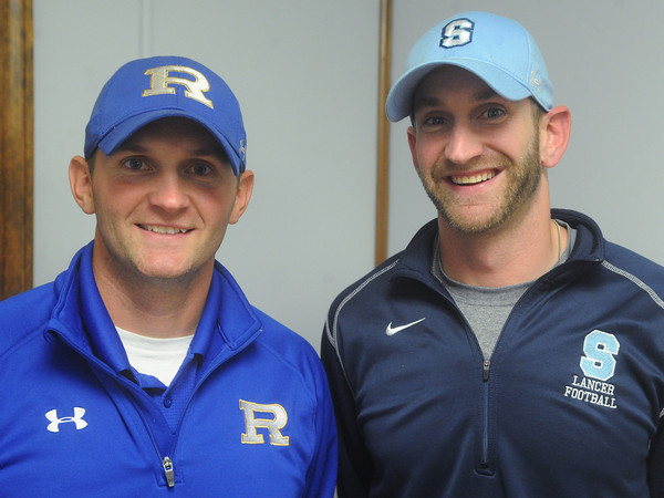 Globe/Roger Nomer<br /> Derrick Rider, head coach, Riverton, left, and Clint Rider, head coach, Southeast.