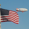 Globe/Roger Nomer<br /> The MetLife blimp circles over Webb City on Wednesday evening.