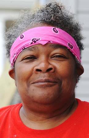 Globe/T. Rob Brown<br /> Lenora Taylor, of Wadsworth, Ohio, volunteer from First Christian Church Disciples of Christ through Rebuild Joplin.
