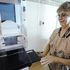 Globe/T. Rob Brown<br /> Sandi Flesher, Mercy Columbus, Kan., mobile mammography unit coordinator, loads the Hologic mammography machine Thursday, Oct. 4, 2012.