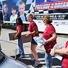 Globe/T. Rob Brown<br /> Volunteers from Bass Pro Shops corporate office in Springfield, from left: Sandy Fielder, Terry Ivie, Angie Getso, Katie Mitchell and Evelyn Lambeth carry boxes from Convoy of Hope to a Joplin family Wednesday morning, Oct. 3, 2012, just off Maiden Lane, near 7th Street, in Joplin.