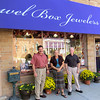 Brothers Phil and Vic Owens and employee Nancy Burrell stand in front of Jewel Box Jewelers Friday afternoon, Sept. 27. The brothers opened the jewelry store 40 years ago in Boone Village. They have been on Main Street for the past 29 years.