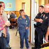 "'Coffee with a Cop' lands at Titus<br /> By Jake Thompson<br /> GOOD CONVERSATION: Julie Noland (center), of Lebanon, talks to Lebanon Police Officers (on right, from left) Jason Morgan and Cary Clanton as (from left) LPD Det. Amy Dickerson and Lebanon resident Steve Rose join the discussion. The event lasted from 9 to 10:30 a.m. on Thursday Morning at Titus Bakery. Citizens were encouraged to attend to get to know their local police officers, and bring any concerns or items of discussion. ""We've fielded some great ideas this morning,"" said LPD Chief Tyson Warmoth. ""We've had lots of compliments."" Warmoth hopes to hold the event three or four times a year so citizens may become more familiar with the officers."