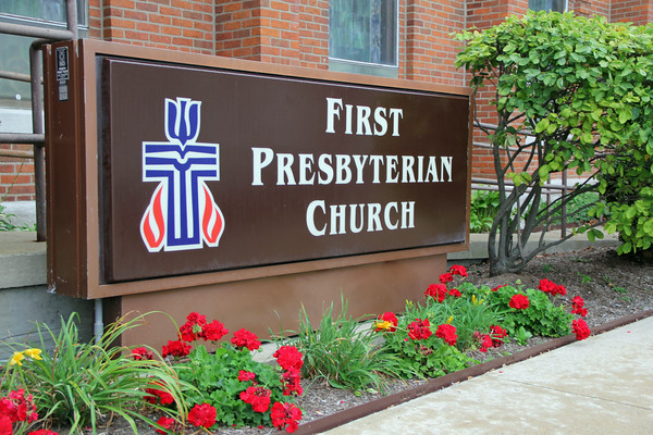 TRAFFIC AREA: The sidewalks surrounding the First Presbyterian Church take quite a pounding with all of the foot traffic from the preschool and congregation.