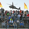 LHS SERVICE APPRECIATION NIGHT<br /> Elizabeth Pearl | The Lebanon Reporter<br /> BLACKHAWK LANDING: Lebanon High School football fans snapped pictures of a Blackhawk helicopter that delivered the game ball to the LHS vs. Western Boone Jr.-Sr. High School game on Friday evening. LHS hosted a service appreciation night, inviting veterans and first responders to get refreshments and free entry into the football game, as well as a chance to walk out on the field.