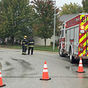 Gas line cut<br /> Lebanon Fire Department photo<br /> HOMES EVACUATED: Firefighters man a hose line at 1003 Redwood Drive, Lebanon, where a natural gas line was cut at 11:39 a.m. Thursday. The leak was repaired at 1:27 p.m. During the incident LFD's Station 11 on Anderson Lane was opened as a shelter for displaced residents, LFD Chief Chuck Batts said. Unites from Center Township Fire, Lebanon police and Boone County EMS also responded.