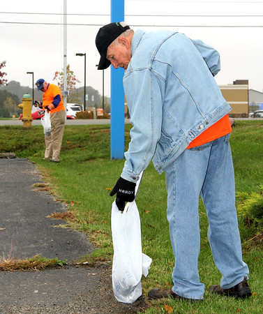"Initial 'Throwaway Thursday' A Success<br /> Jake Thompson | The Lebanon Reporter<br /> PICKING UP: Russell Roberts (front) and Allen Milburn, both Lebanon Rotary members, pick up trash on the north side of the Big Lots Parking lot Thursday afternoon. Eleven people signed up for The Cleanest City initiative 'Throwaway Thursday,' an event held once a month. ""The intent is to get the community involved in the Cleanest City initiative through this event,"" said Jennifer Lawrence. This way they may help suggest the location and bring a friend. We want to do this all year."" In the Spring The Clleanest City initiative rolls out  many groups tasked with going around and cleaning the city in one day. Lawrence said this way, the upkeep helps all year around, especially with cigarette butts. ""That's our biggest nemesis,"" Lawrence said. To join the initiatiove, check out their Facebook page or attend a meeting. The next meeting for The Cleanest City initiative is noon, Nov. 1, at the Lebanon Municipal Building."
