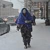 KRISTOPHER RADDER - BRATTLEBORO REFORMER<br /> Anne Howes, of Brattleboro, bundles up while walking down Main Street, in Brattleboro, Vt., during the winter storm on Thursday, Jan. 4, 2018.
