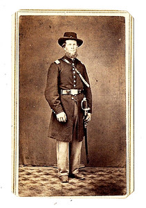 COURTESY RONALD CHOJNACKI  Shown is an unidentified Civil War officer from Medina.