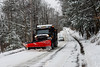 KRISTOPHER RADDER - BRATTLEBORO REFORMER<br /> Rick Gilbeau, a heavy equipment operator for the town of Brattleboro's Department of Public Works, has been helping to remove the snow from the local roads for the past 14 years.