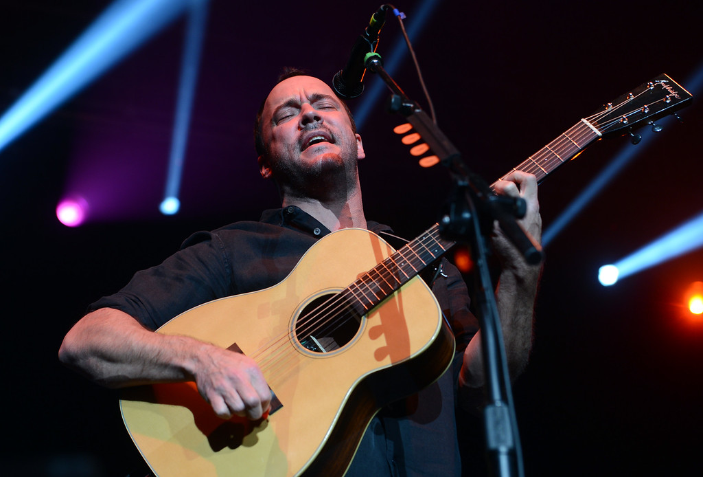. Dave Matthews performs to benefit Colorado flood victims at the Colorado Rising Concert at the 1ST Bank Center in Broomfield on Sunday.  Cliff Grassmick / October 27, 2013