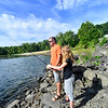 Ryan Fisher, of Erving Mass., takes his two children, Rylee, 12, and Cadence, 9, fishing one last time on Aug. 27, 2019, at the Vernon Dam before the start of the new school year. Fisher will be entering the 7th grade on Thursday, Aug. 29, 2019.  Rylee starts school on Thursday and Cadence, tomorrow.