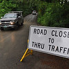 Gillian Jones/North Adams Transcript<br /> This sign sits on Bee Hill Road at the intersection of Cold Spring Road in Williamstown. The road sustained some damage in the last rainstorm and with Friday's rain, the road remained open to local traffic only.