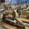 BEN GARVER — THE BERKSHIRE EAGLE<br /> Jamie Israelow and her husband Asher are using a state grant to turn the Country Curtains Co. mill in Housatonic into a collaborative workspace. <br /> The old sewing equipment needs a new home.