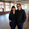 BEN GARVER — THE BERKSHIRE EAGLE<br /> Jamie Israelow and her husband Asher are using a state grant to turn the Country Curtains Co. mill in Housatonic into a collaborative workspace.