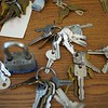 BEN GARVER — THE BERKSHIRE EAGLE<br /> Jamie Israelow and her husband Asher are using a state grant to turn the Country Curtains Co. mill in Housatonic into a collaborative workspace. THese keys are among the items the couple need to sort out.