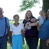 HALEY WARD | THE GOSHEN NEWS<br /> Ray, Kathy, Beth holding 5-week-old Corbin, 18-month-old Hazel and James Eash were named Farm Family of the Year from the Ag Society.