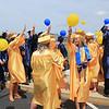Roger Schneider   The Goshen News<br /> Fairfield graduates release balloons following their ceremony Sunday.