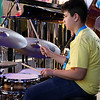 Brian Sapp   The Goshen News<br /> Will Zou, 14, Elkhart plays drums with the Elkhart Jazz Festival All Stars.