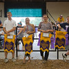 JAY YOUNG | THE GOSHEN NEWS<br /> Grand champions line the beef arena during the parade of champions Thursday evening at the Elkhart County 4-H Fair.