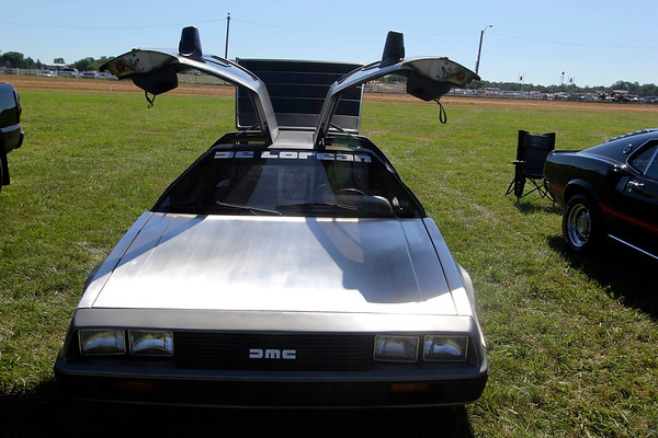 "ADAM RANDALL | THE GOSHEN NEWS<br /> A replica of the DeLorean time machine made famous in the ""Back to the Furture"" movies."