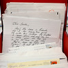 BEN MIKESELL | THE GOSHEN NEWS<br /> A box of letters addressed to Santa Claus sit in Beth Jungels' office Friday at the Syracuse Post Office. As the elf in charge for Operation Santa in Indiana, Jungels has already received more than 150 letters from across the country intended for Santa. For Operation Santa, people are encouraged to adopt a letter and fulfill the sender's wish anonymously.