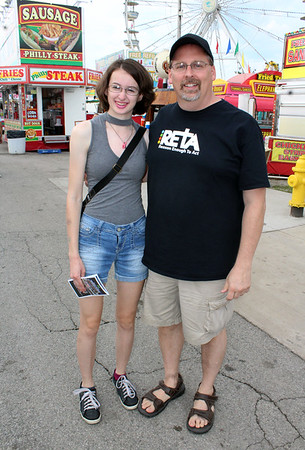 JULIE CROTHERS BEER | THE GOSHEN NEWS<br /> Charlotte Fater, 17, and Jeff Fater, both of Elkhart