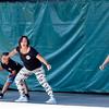 CHRISTINA C LARK | THE GOSHEN NEWS Amy Stebleton, center,  heads up hip-hop routines for National Dance Day with Lashelle Brown, Elkhart, Stebleton's grandaughter Kailea Klingerman,5, Elkhart, Heather Cline, Elkhart, and Graciela Granados, Elkart.