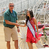 STACEY DIAMOND | THE GOSHEN NEWS<br /> Terry Shewmaker and 2017 Ekhart County 4-H Fair Queen Samantha Shank