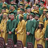 ADAM RANDALL | THE GOSHEN NEWS<br /> Wawasee High School gradutes take their seats for commencement ceremony.