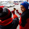 BEN MIKESELL | THE GOSHEN NEWS<br /> Josue Medina and Cameron Perez, both fourth-graders at West Goshen Elementary School, ring bells for the Salvation Army on Wednesday outside of Kroger.