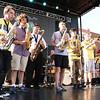 Brian Sapp   The Goshen News<br /> Jackson Trowbridge, 16, Elkhart, Joseph Furfaro, 16, Mishawka, Ben Rutledge, 15, Elkhart, Ben Good Elliot, 17, Goshen and Josh Peacock, 15, Elkhart play with the Elkhart Jazz Festival All-Stars.