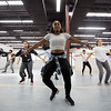 JAY YOUNG | THE GOSHEN NEWS<br /> Instructor Sandra Jemison leads a group of dancers as they learn some new moves during a hip hop dance class Wednesday evening at Epic Dance Studios.