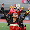 Stacey Diamond | The Goshen News<br /> Maria Flores, a junior, pulls out some dramatic flair for Goshen's ISSMA Semi-State performance.
