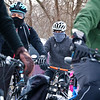 LEANDRA BEABOUT | THE GOSHEN NEWS<br /> Cyclists bundled up against freezing temps for the third annual Ice Cycle. Pictured in center is Goshen Brewing Company (GBC) owner Jesse Sensenig. Riders were welcomed into GBC for chili and beer at the end of the 15-mile route.