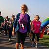 LEANDRA BEABOUT | THE GOSHEN NEWS<br /> Betty Thomas, Goshen, sets off on the Maple City Walk's 10k walk.