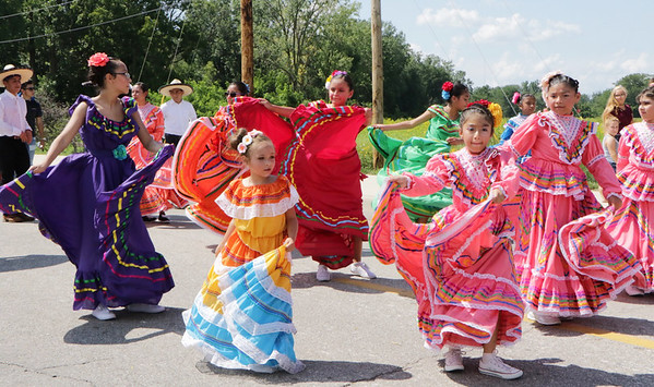 STACEY DIAMOND | THE GOSHEN NEWS<br /> Dancers perform in the Elkhart County 4-H Fair parade.