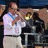 Brian Sapp   The Goshen News<br /> Bill Allred of the Elkhart Jazz Festival All Stars plays Saturday.