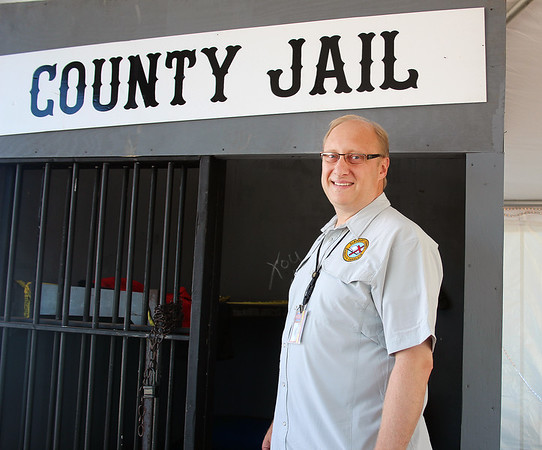LEANDRA BEABOUT | THE GOSHEN NEWS<br /> Elkhart County Sheriff's Department Chaplain Michael Johnson of Goshen