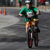 JAY YOUNG | THE GOSHEN NEWS<br /> Zachary Lee, of Goshen, takes off on his bicycle as he navigates the 1.2 mile cycling course during the 13th annual Kids' & Teens' Try-Athlon hosted by the Goshen Parks and Recreation Department at Shanklin Park Saturday morning.