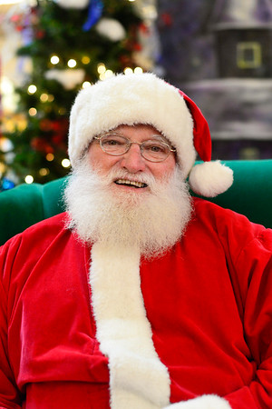 BEN MIKESELL | THE GOSHEN NEWS<br /> Butch Plikerd of Syracuse has been Santa for more than 45 years. He is a graduate of the Santa Claus School in Midland, Michigan in 2015, and has greeted customers at Concord Mall for the last four years.