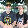 "LEANDRA BEABOUT | THE GOSHEN NEWS<br /> Earl and Kathy Smothers visited the Elkhart County 4-H Fair for Friday's Veterans' Day Program. Earl spent 25 years in the Army, and is now retired. He served in the 1st Cavalry Division in Vietnam for ""Twelve months and four days too long,"" he said."